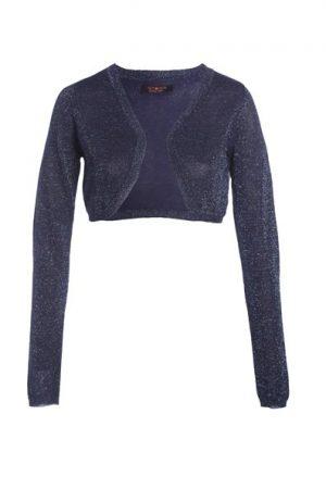 Bolero lurex Bleu Polyester – Femme Taille 0 – Cache Cache Bleu Cache Cache