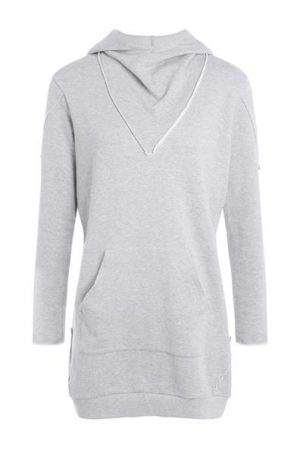 Robe façon sweat Oora Gris Coton – Femme Taille 34 – Cache Cache Gris Oora