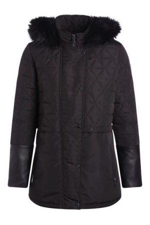 Parka à capuche détails simili-cuir Oôra Noir Plume de canard – Femme Taille 0 – Cac ...
