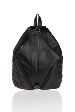 Sac à dos similicuir zippé Oôra Noir Synthetique (polyurethane) – Femme Taille T.U – ...