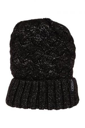 Bonnet grosse maille irisée Noir Acrylique – Femme Taille T.U – Cache Cache Noir Oora