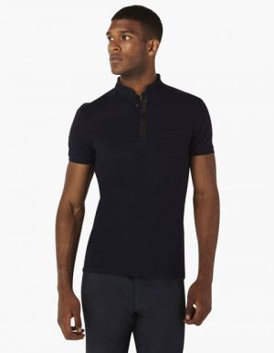 Polo uni col officier coton stretch – Celio