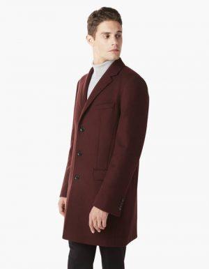 Manteau redingote coupe slim laine majoritaire – Celio