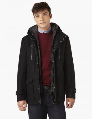 Parka en laine avec capuche amovible – Celio