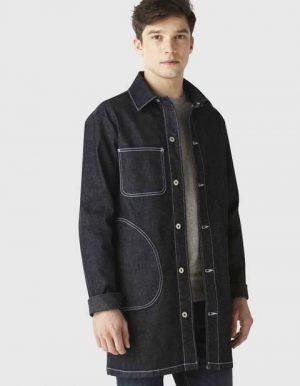 Veste longue en jean coton stretch – Celio
