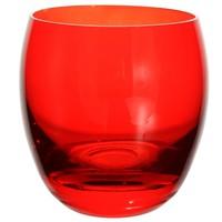 Gobelet tonneau en verre rouge Maisons du monde