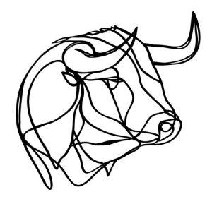 Trophée en bois Bull – Hu2