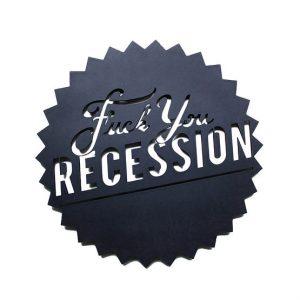 Trophée en bois Fuck You Recession – Hu2