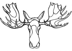 Trophée en bois Moose – Hu2