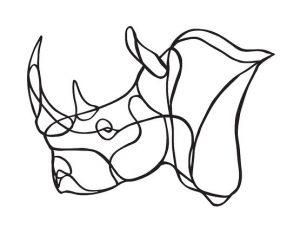 Trophée en bois Rhino – Hu2