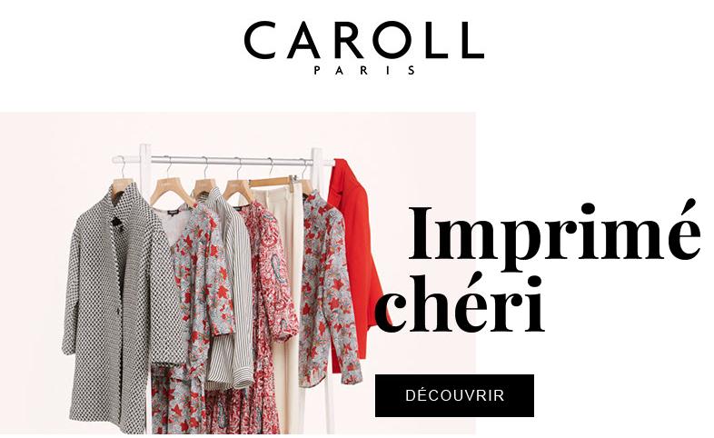 Tendance végétal graphique pour la nouvelle collection Caroll