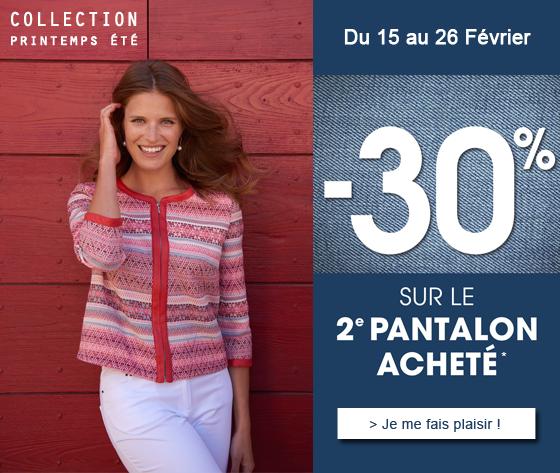 -30% sur le 2ème pantalon acheté sur la Nouvelle Collection Christine Laure