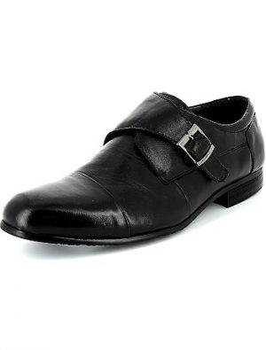 Chaussures en cuir noir KIABI