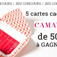Jeu concours nouvelle collection Camaïeu   cartes cadeaux à gagner ... 3dc848424642