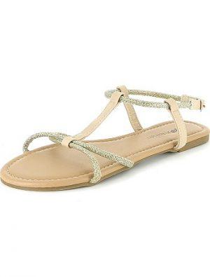Sandales à brides argentées KIABI