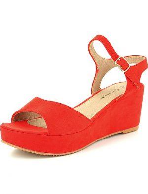 Sandales compensées en suédine KIABI