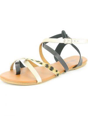 Sandales plates multi lanières KIABI