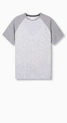 T-shirt en jersey de coton mélangé  Esprit
