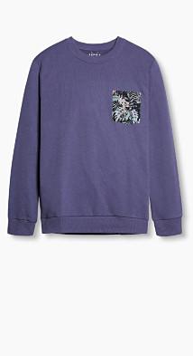Sweat-shirt en coton mélangé  Esprit