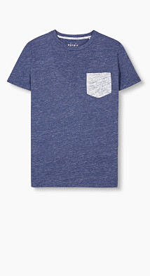 T-shirt chiné en jersey de coton  Esprit
