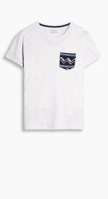 T-shirt en jersey chiné  Esprit