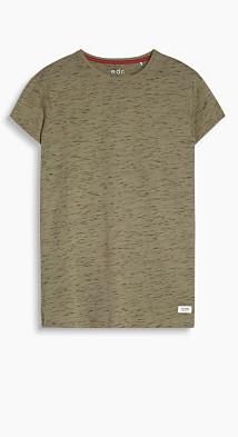 T-shirt long, jersey de coton  Esprit
