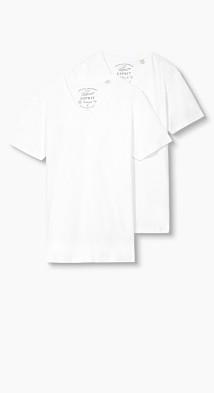 2 t-shirts basiques en jersey de coton  Esprit