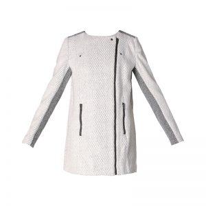Manteau gris bi-matière Amaca – Naf Naf