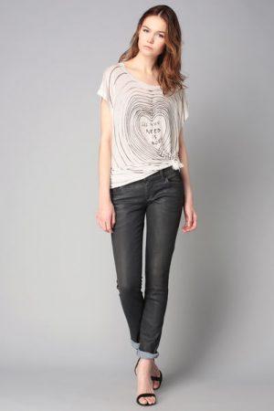 T-shirt long blanc imprimé Serra – Diesel