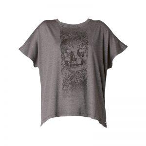 T-shirt gris oversize imprimé skulls Hanna – Diesel