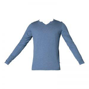 Pull bleu col boutonné Nice – Jack & Jones