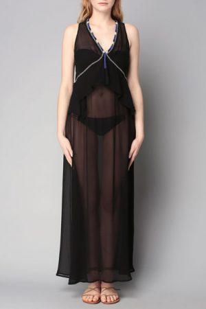 Robe noire perles  Ary – Antik Batik