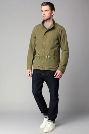 Parka kaki corde fluo – Scotch & soda