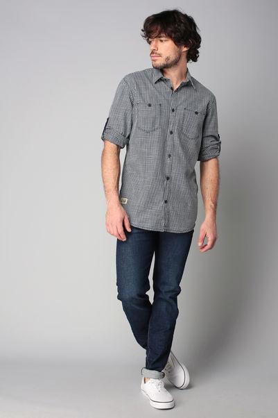 Chemise à carreaux navy Ray - Tom Tailor