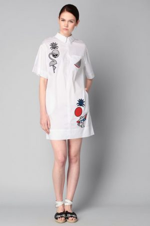 Robe blanche patch Tropical – KARL LAGERFELD