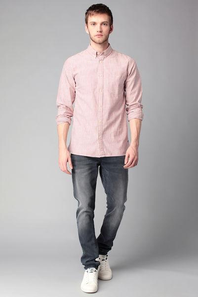 Chemise rayée manches longues Andrew - Jack & Jones