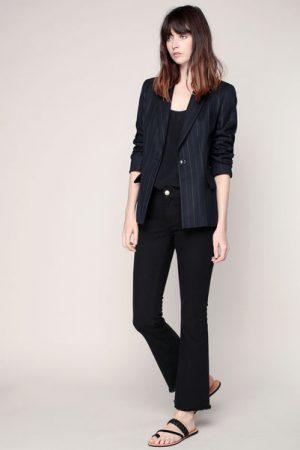 Veste tailleur anthracite à rayures – Sinéquanone