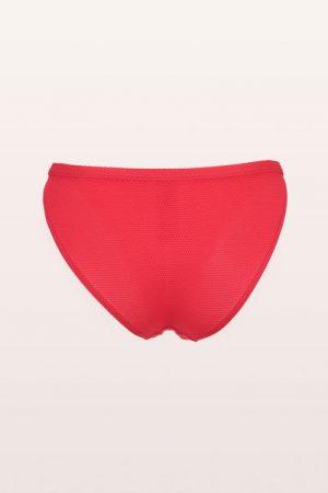 Culotte de bain rouge nid d'abeille Monoprix Femme