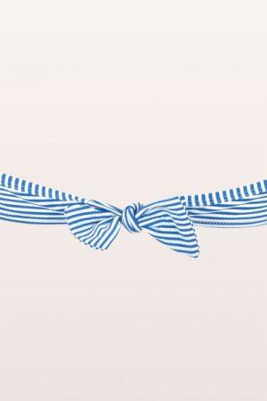 Maillot de bain bandeau rayé bleu/blanc Monoprix Femme