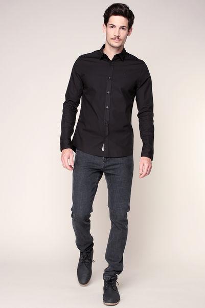 Chemise slim noire broderie logo Wilbert – Calvin Klein
