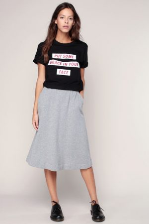 T-shirt cropped noir imprimé message Tygrace – Eleven Paris