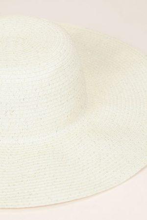 Chapeau écru paillettes – Monoprix Femme