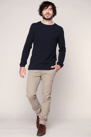 Pull fin coton piqué marine – Tom Tailor