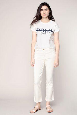 T-shirt écru imprimé logo marine – Ralph Lauren