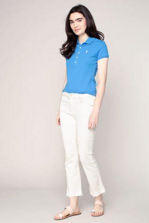 Polo bleu électrique logo brodé Julie – Ralph Lauren