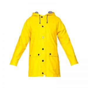 Ciré à capuche jaune doublure rayée blanc/noir Finou – Petit Bateau