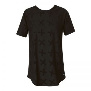 T-shirt long noir croix brodées Tactics – Adidas Originals