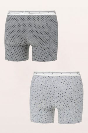 Lot de 2 boxers gris et anthracite imprimé graphique marine Combo – Scotch & soda