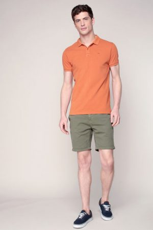 Polo orange logo brodé – Scotch & soda