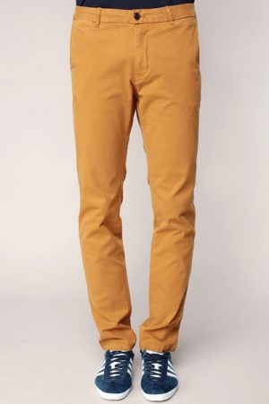 Pantalon regular slim nutmeg avec ceinture – Scotch & soda